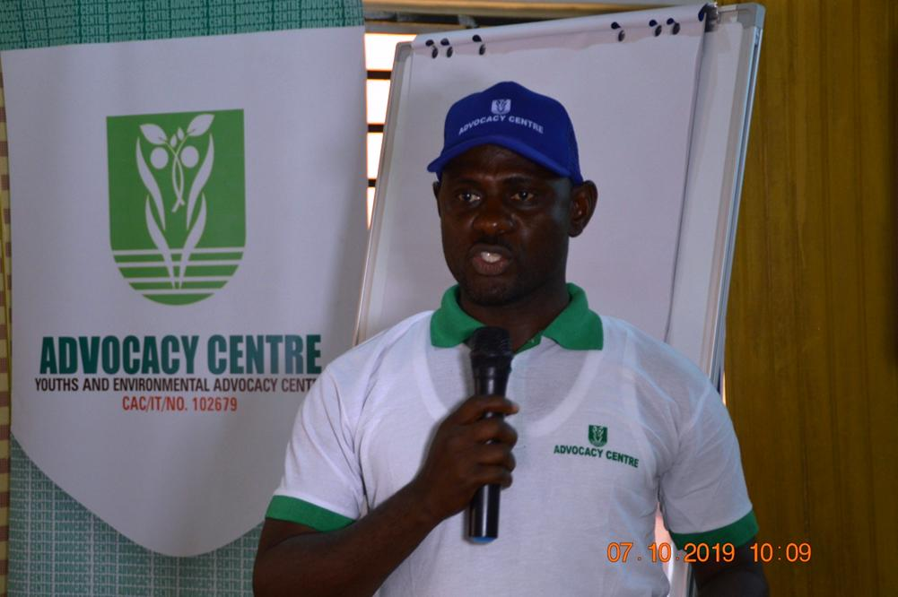 (Executive Director of Advocacy Centre, Fyneface Dumnamene speaking at the program)